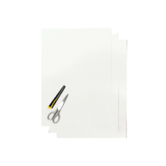 Blackbird Coloured sheet white 47x33cm (3pcs)