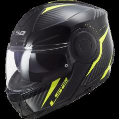 LS2 Helmet FF902 SCOPE SKID BLACK H-V YELLOW
