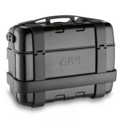 Givi 46 litre blackline top-case black with aluminium finish with top opening