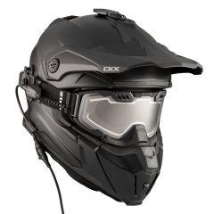 CKX Helmet + Goggles with electric lens TITAN  Matt black