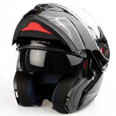 MT Atom flip-up helmet, black