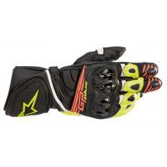 Alpinestars Gloves GP Plus R v2 Black/Yellow/Red Fluo