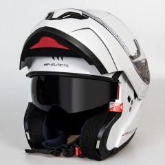 MT Atom flip-up helmet, white