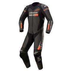 Alpinestars Leather suit GP Force Chaser V2 1 PCS Black/Fluo Red 48