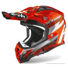 Airoh Helmet Aviator 2.3 AMS2 Novak orange chrome