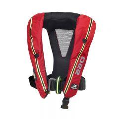 Baltic Legend 220 Hammar auto harness inflatable lifejacket red 40-140kg