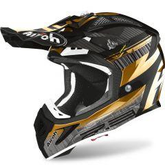 Airoh Helmet Aviator 2.3 AMS2 Novak gold chrome
