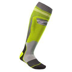 Alpinestars Socks MX Plus-1 Fluo Yellow/Gray