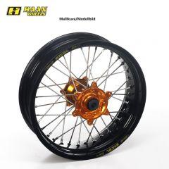 Haan wheel SX&SXF&EXC MODELS 95- 17-5,00 BLACK RIM/ORANGE HUB