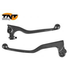 TNT Lever set, Carbon-style, Yamaha DT50R / MBK X-Limit