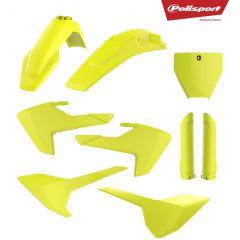 Polisport plastic kit TC125/250, FC250/350/450 16-18 Flo yellow