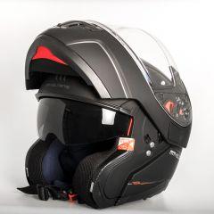 MT Atom flip-up helmet, matt black