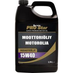 Pro Star 4-tahti moottoriöljy 15W40 3,78L