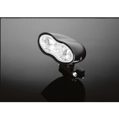 Highway Hawk headlight double oval dull-black blue-lens E-marked 68-106DB
