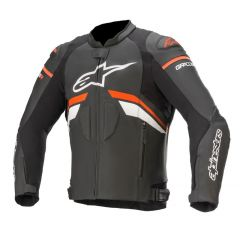 Alpinestars Leather Jacket GP Plus R v3 Black/Redfluo