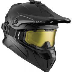 CKX Helmet Titan Solid Black with goggle