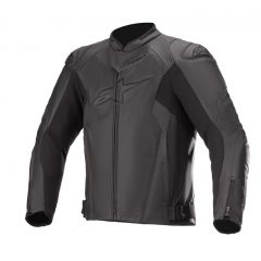 Alpinestars Leather jacket Faster AirFlow v2 Black 48