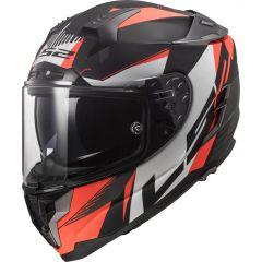 LS2 Helmet FF327 Challenger Squadron Matt Fluo Orange