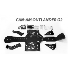 Plastic Skid plate Full Set Can-AM Outlander G2 STD/MAX/XMR 2017-2018