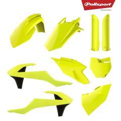 Polisport plastic kit SX125/150, SX-F250/350/450 16-18 Flo yellow