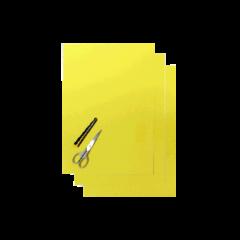 Blackbird Coloured sheet neon yellow 47x33cm (3pcs)