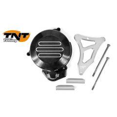 TNT Flywheel & sprocket cover, Black/Silver, Derbi Senda