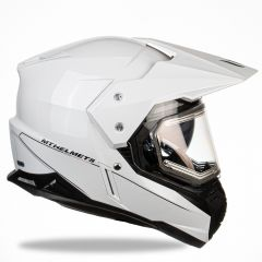 MT Duo Sport, white, with electric visor